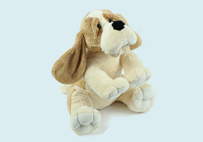 Sitting Toy Dog with Big Ears