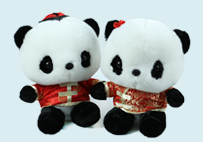 Couple Bear Toy in Tang Suit