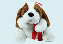 Electric Toy Christmas Dog (White)