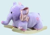 Purple Elephant Rocking-horse