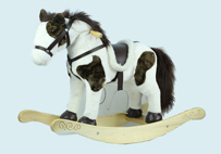 Brown and White Music Rocking-horse