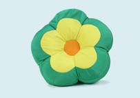Green Flower Soft Cushion