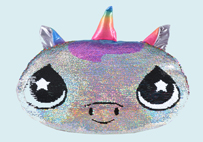 Unicorn Cat Sequin Toy pillow