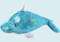 Dolphin Sequin Plush Toy