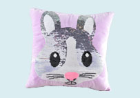 Cute Rabbit Sequin Plush Pillow