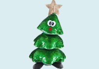 Christmas tree sequin plush toy