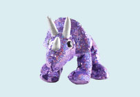 Sequin Plush Triceratops Toy(Purple)