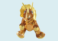 Sequin Plush Triceratops Toy(Yellow)