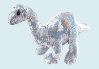 Sequin dinosaur plush toy(Silver)